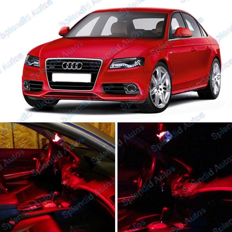 Red Interior LED Package For Audi A4/S4 B6/B7 2001-2008