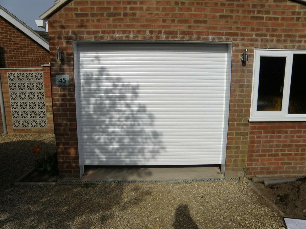 Roller garage door made in uk to your sizes up to 2440mm Large garage door sizes