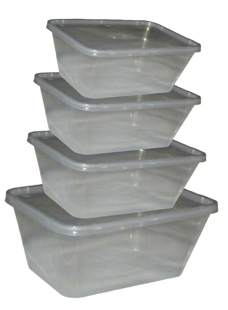 Food Containers Plastic Takeaway Microwave Freezer Safe