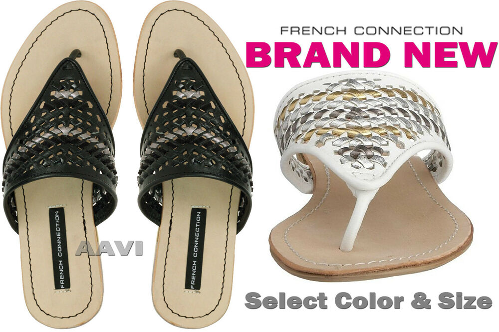 French Connection Dawne Fashion Interwoven Toe Post Flat