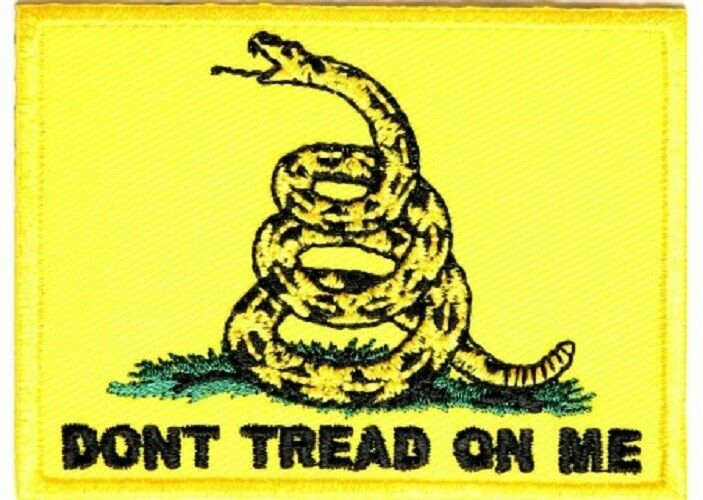 Keychain keyring embroidered patch double sided flag don/'t tread on me gadsden