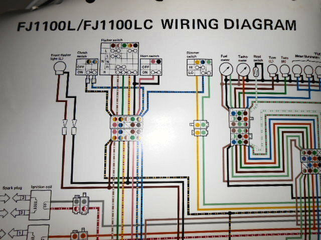 Yamaha Oem Factory Color Wiring Diagram Schematic 1984 Fj1100 L Lc