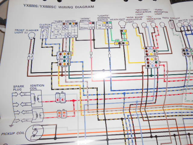 Yamaha OEM Factory Color Wiring Diagram Schematic 1986 ...