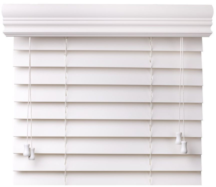 Value Priced Faux Wood Window Blinds White Free