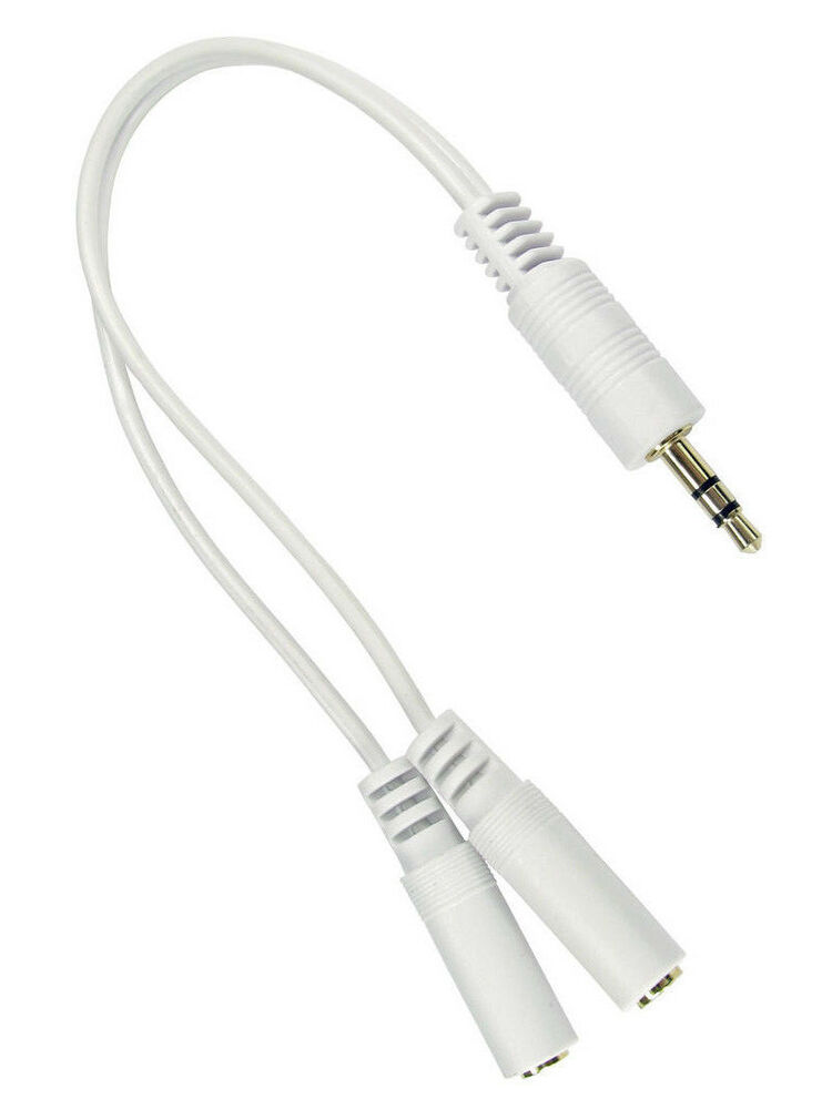 3 5mm Jack Splitter Lead Iphone Ipod Headphone Samsung 20cm Cable