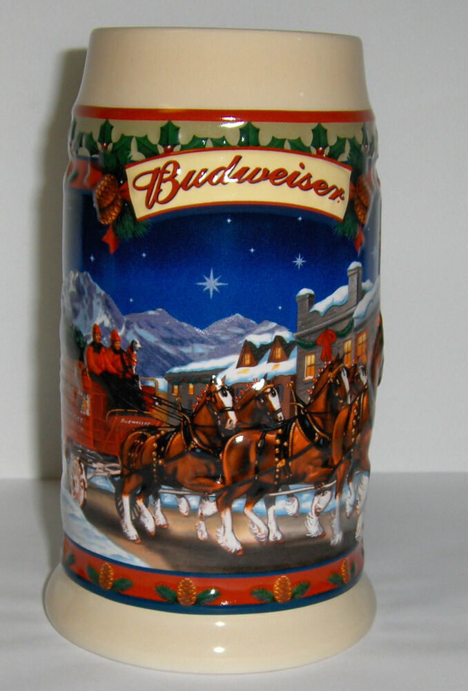 2003 budweiser holiday stein cs560 christmas mug ebay