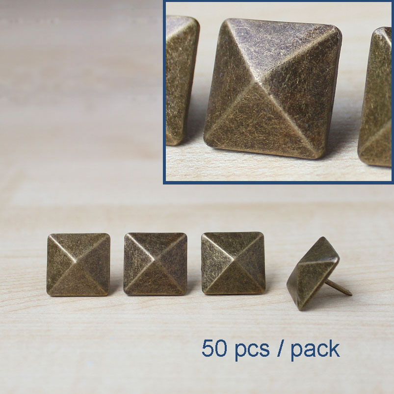 decorative nail for furniture leather copper pyramid