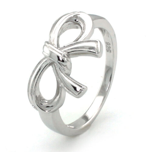 Womens Sterling Silver Lima Infinity Bow Wedding Ring Ebay