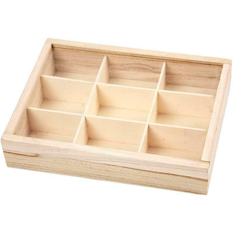 Plain Wooden Plexi Sliding Lid Display Box Storage 9