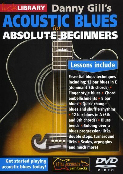 lick library acoustic blues for absolute beginners learn to play guitar dvd 0436 ebay. Black Bedroom Furniture Sets. Home Design Ideas