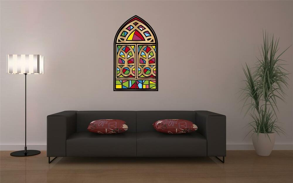 Wall Art sticker - Full Colour - Stained Glass Window ...