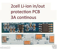 2 cell Li-ion Lithium 18650 Battery Input Ouput Protection PCB 7.2V/7.4V 3A