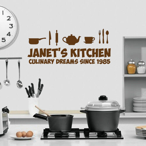 Kitchen themed wall art personalised with name kitchen for Kitchen themed wall art