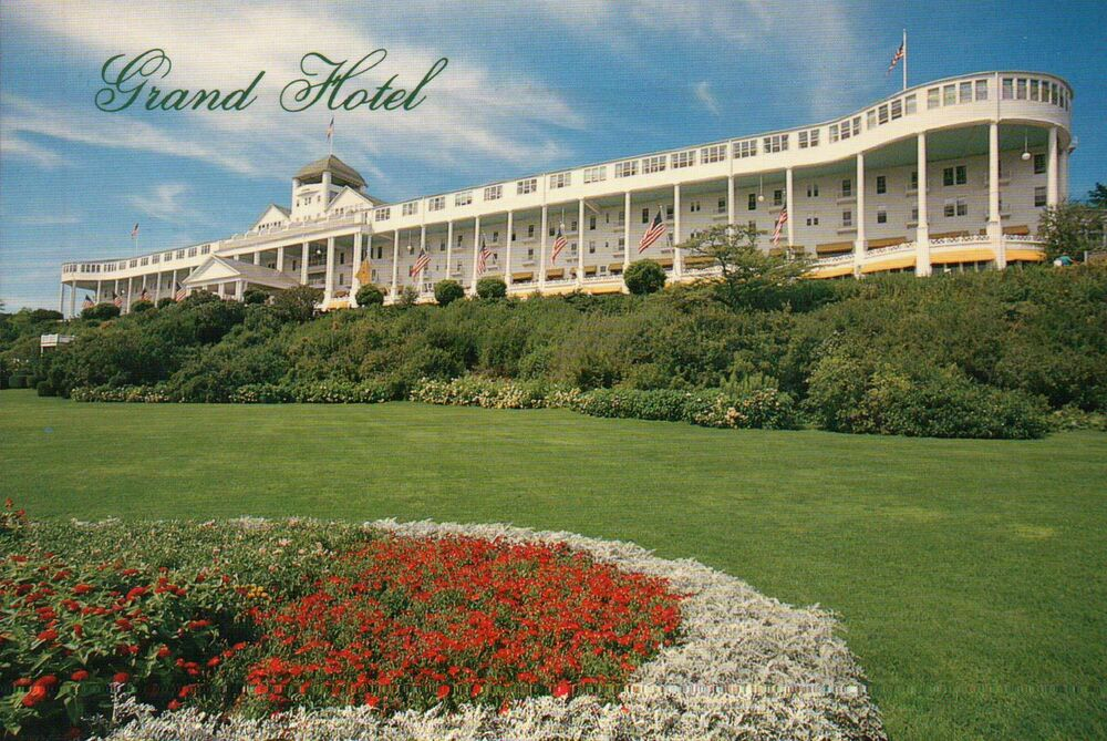 grand hotel mackinac island michigan somewhere in time film postcard ebay. Black Bedroom Furniture Sets. Home Design Ideas