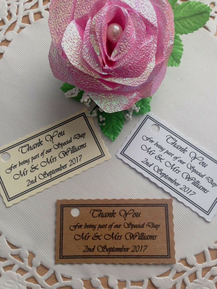 Wedding Favor Tags Ebay : ... Favour Tags WeddingPartyChristeningGift Labels eBay