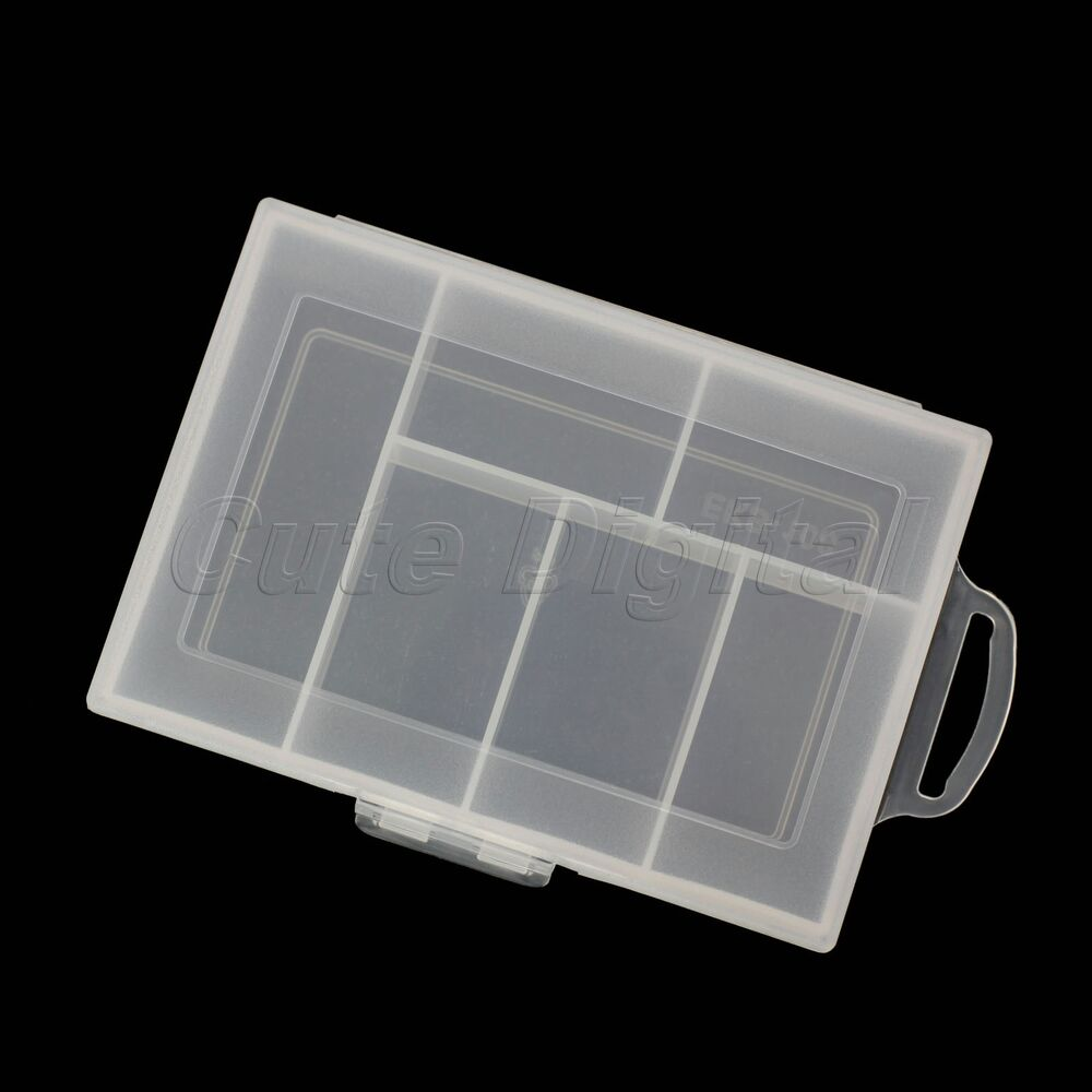 Portable plastic 6 compartment storage container case box - Porta poster plexiglass ...