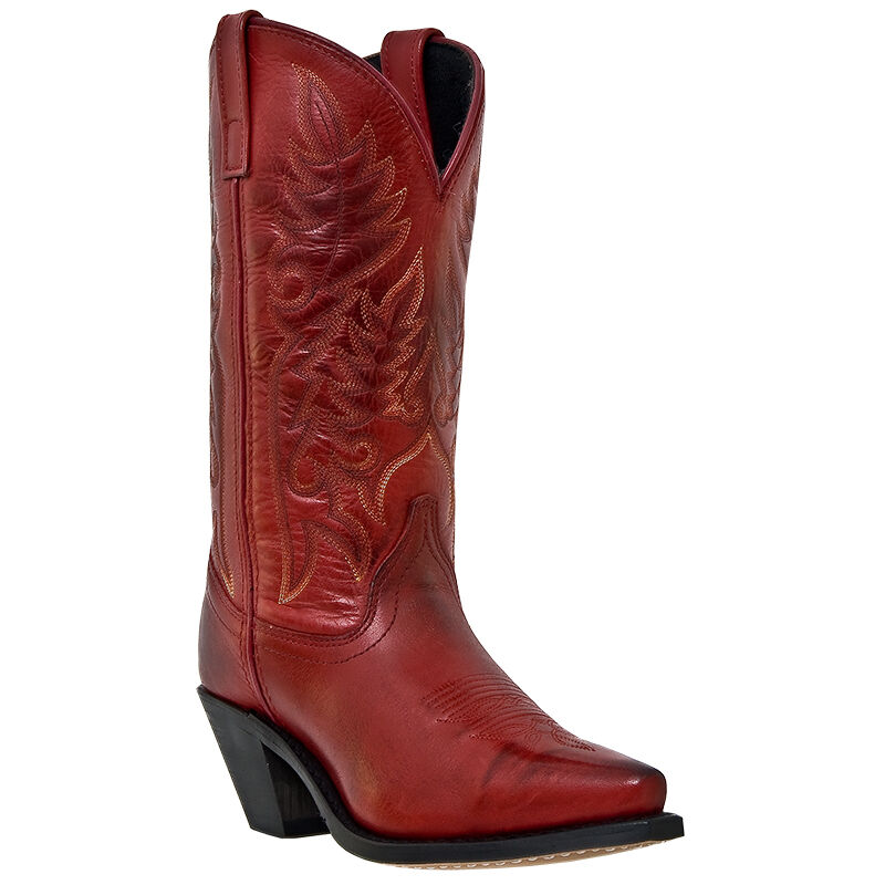 Perfect Womens Cowboy Boots In 6 Colors Black Beige Brown Dark Brown Red Gray HOT | EBay