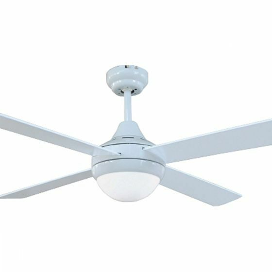 Brilliant tempo ii white 48 ceiling fan with light for White contemporary ceiling fans with lights