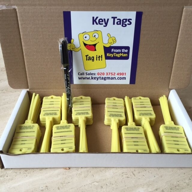 Car Key Tags X 200 Self Tie To Identify Your Vehicles Car