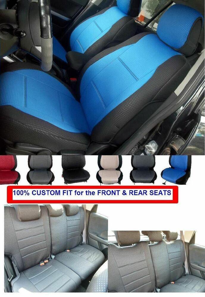 fits mazda 3 diamond front and rear car seat covers blue red black beige grey ebay. Black Bedroom Furniture Sets. Home Design Ideas