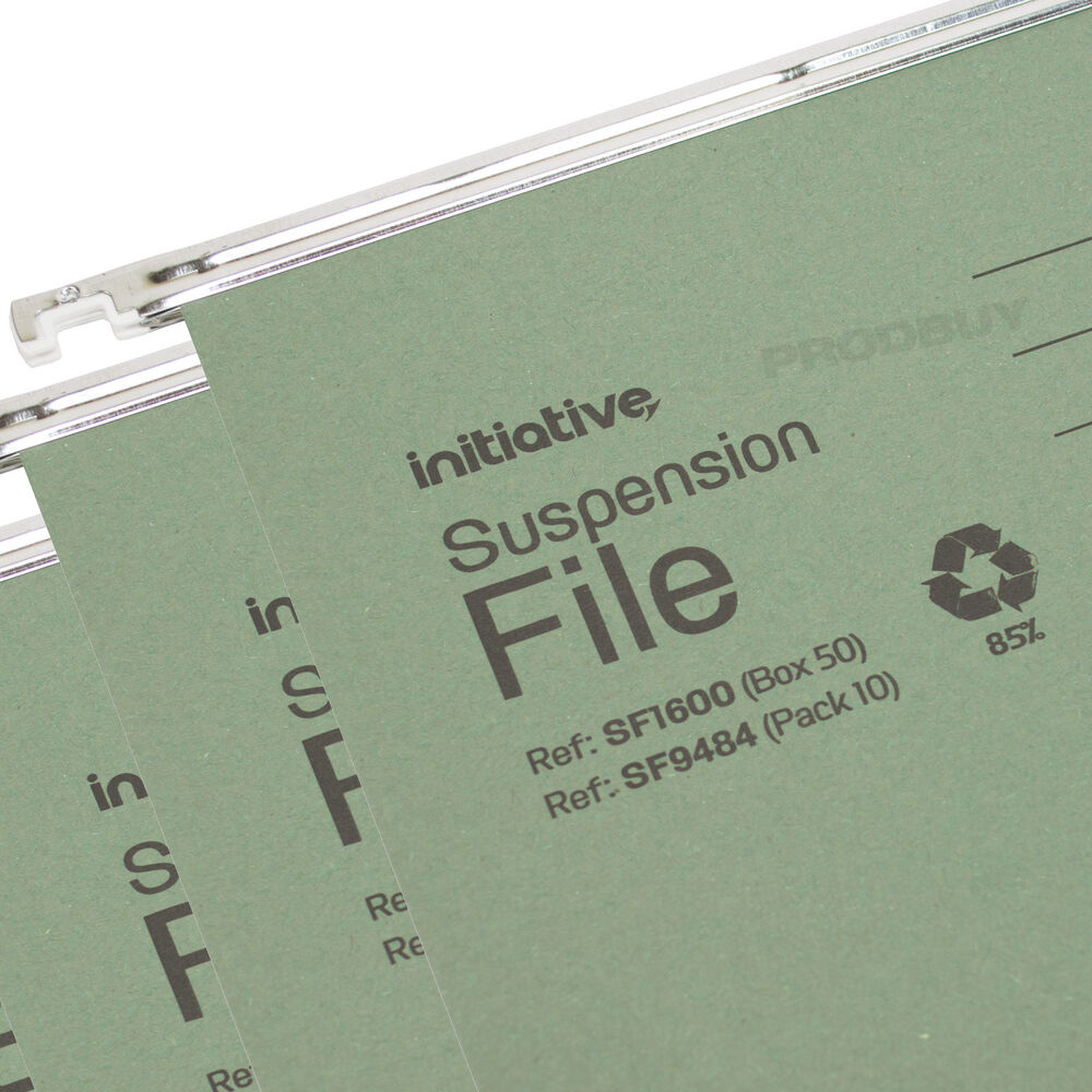 20 x green foolscap hanging suspension files tabs inserts for Suspension fille