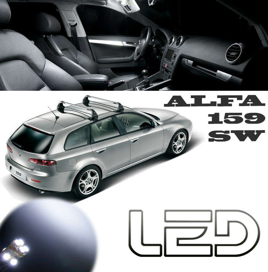 alfa romeo 159 sw sportwagon kit 15 ampoules led blanc habitacle plafonnier ebay. Black Bedroom Furniture Sets. Home Design Ideas