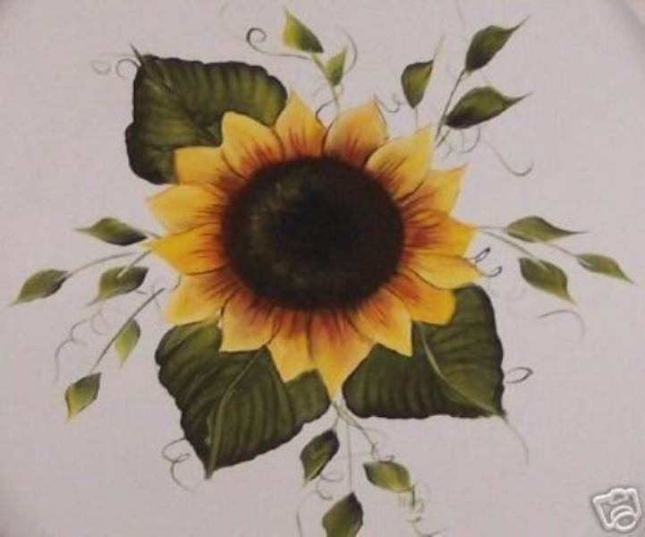 Hand Painted Sunflower Toilet Seat Elongated By Mb Ebay