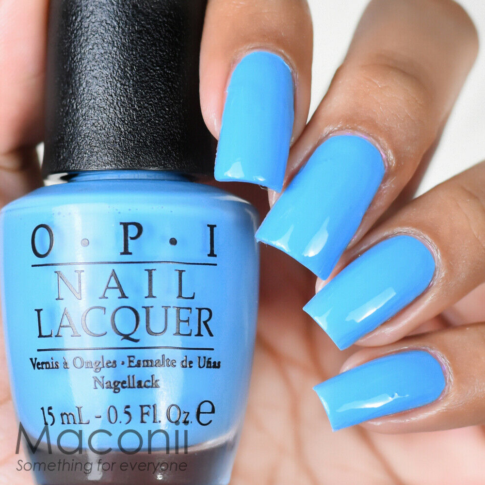 Opi No Room For The Blues B83 Brights Baby Light Blue Cream Nail Polish 15ml Ebay