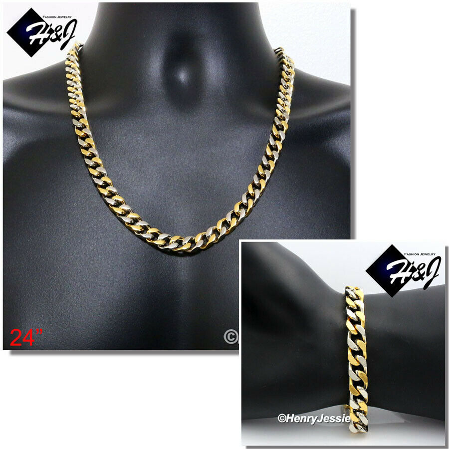 stainless steel 7mm silver gold greek key cuban curb chain. Black Bedroom Furniture Sets. Home Design Ideas