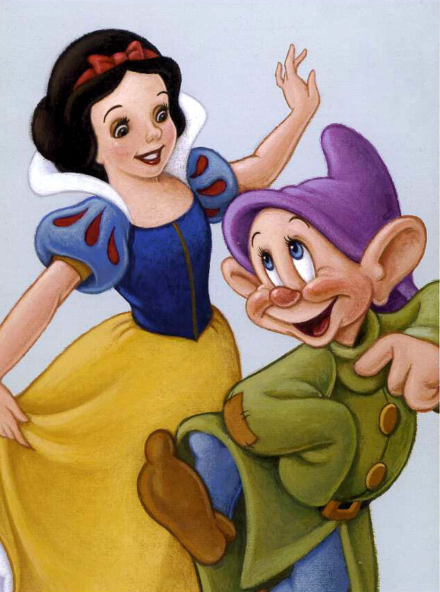 Disney SNOW WHITE & DOPEY Fairy Tale Celebration Classic