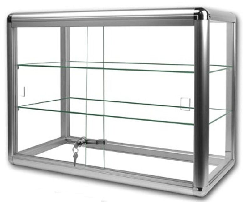 Glass Countertop Display Case Store Fixture Showcase Key