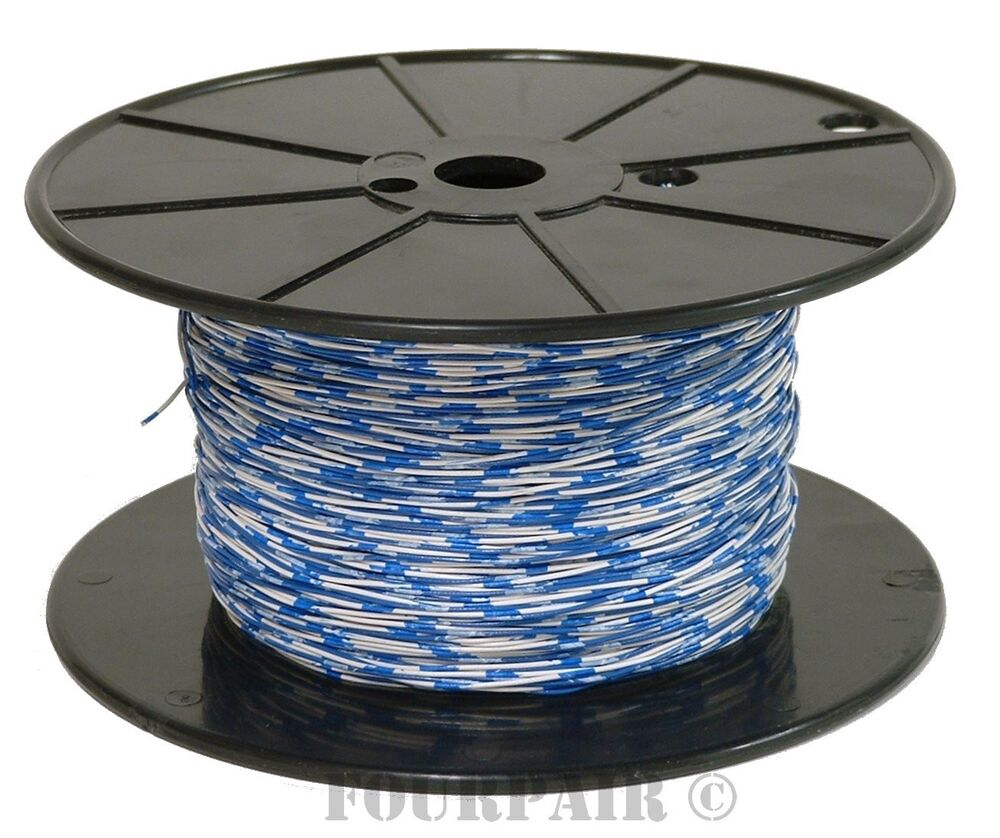 Cross Connect Telephone Wire Cable - 24/2 2C 24 AWG 1 Pair Blue ...