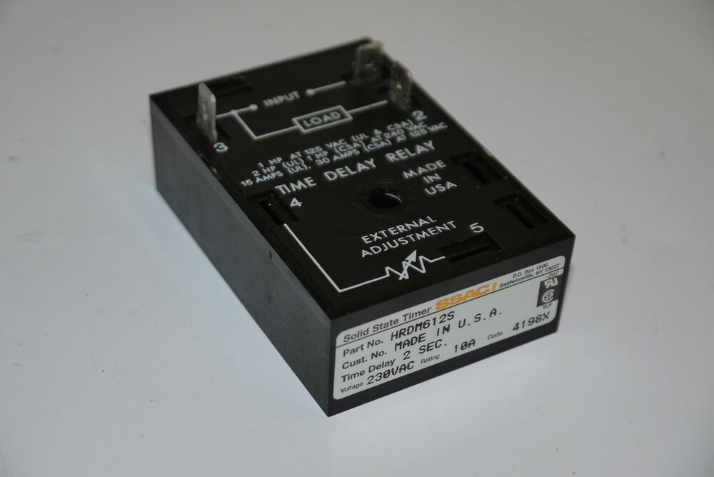 Ssac Hrdm612s Solid State Timer Time 2 Seconds Delay Relay