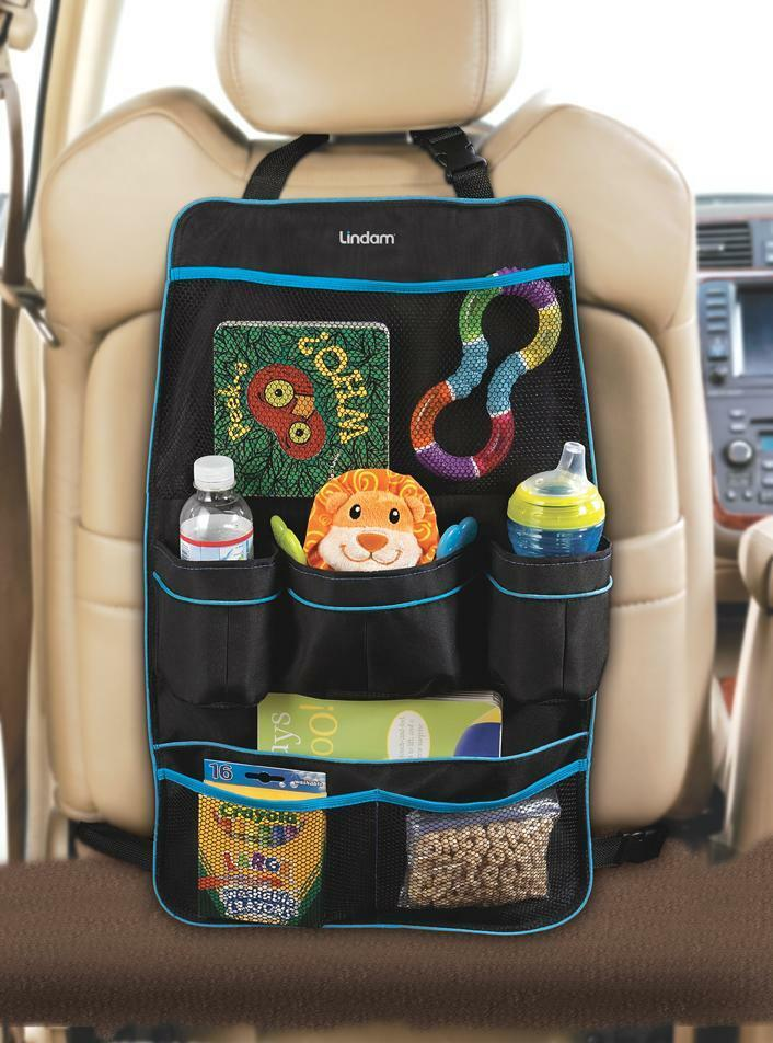 Toy Car Back Seat Organizer : Lindam car back seat organiser storage for toys drinks
