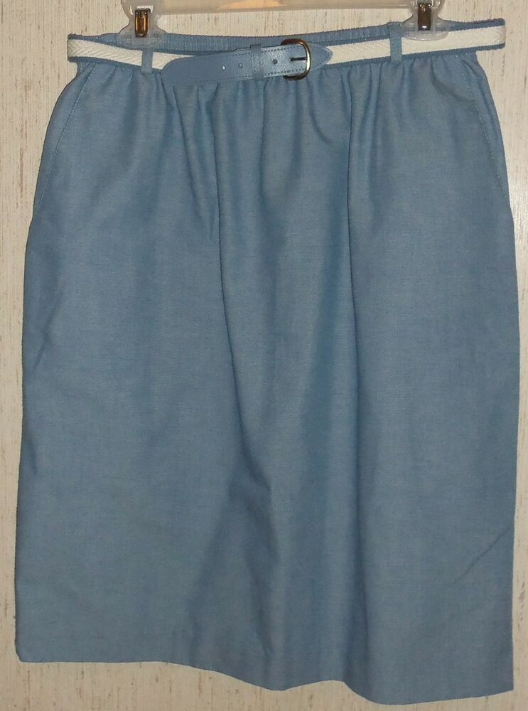 excellent womens alfred dunner blue skirt size 16p