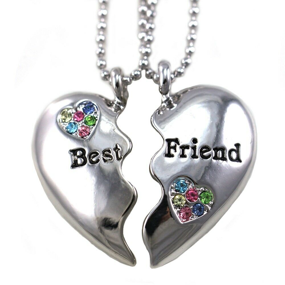 Popular Charm Bracelets 2: Best Friends Forever BFF Multicolor Heart Two Pendant