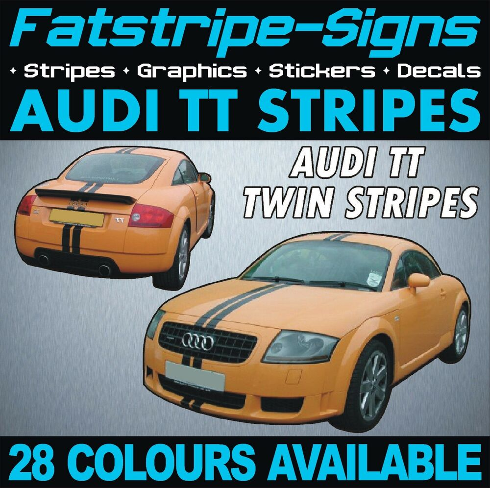 AUDI TT STRIPES CAR VINYL GRAPHICS DECALS STICKERS RACING