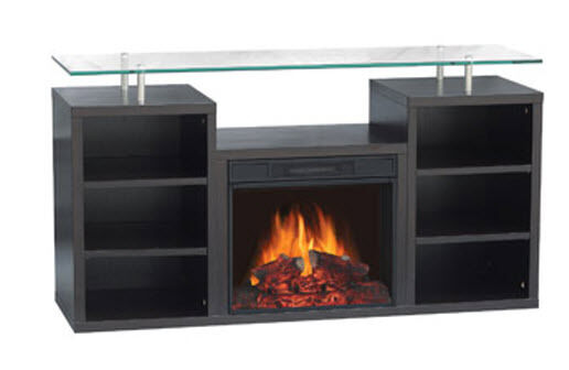 Electric Fireplace Heater Media Home Entertainment Center Tv Storage Glass Stand Ebay
