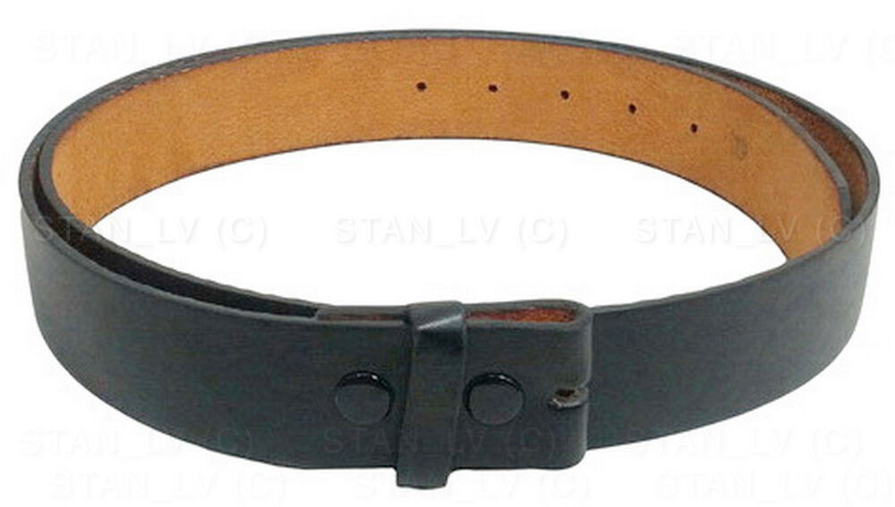 black plain solid leather belt no buckle many colors new