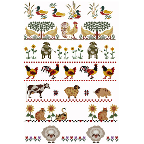 ABC Designs Farm Animals Borders Machine Embroidery