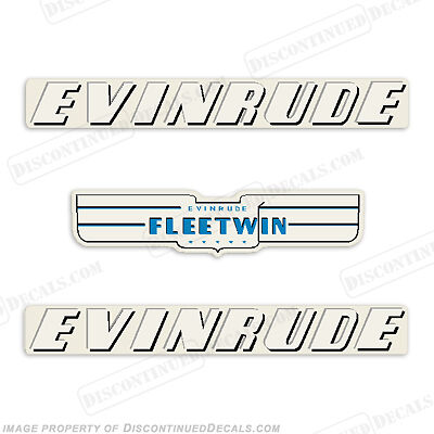 Evinrude 1951 7 5hp Outboard Decal Kit Discontinued Decal