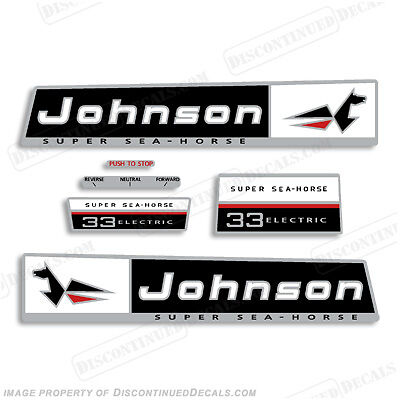 Johnson 1966 33hp Outboard Decal Kit Discontinued Decal