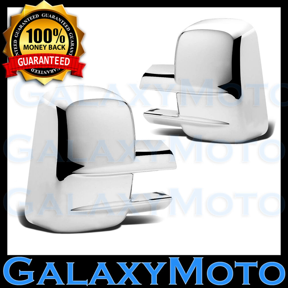 03 15 chevy silverado 1500 2500 3500 all hd full towing mirror chrome cover 2013 ebay. Black Bedroom Furniture Sets. Home Design Ideas