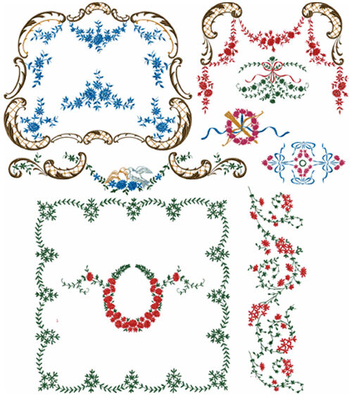 Abc designs 21 victorian decor 2 machine embroidery for Embroidery office design 7 5 full