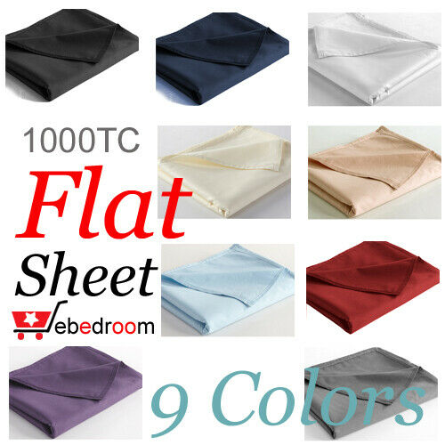 1000tc top quality egyptian cotton flat top sheet king. Black Bedroom Furniture Sets. Home Design Ideas