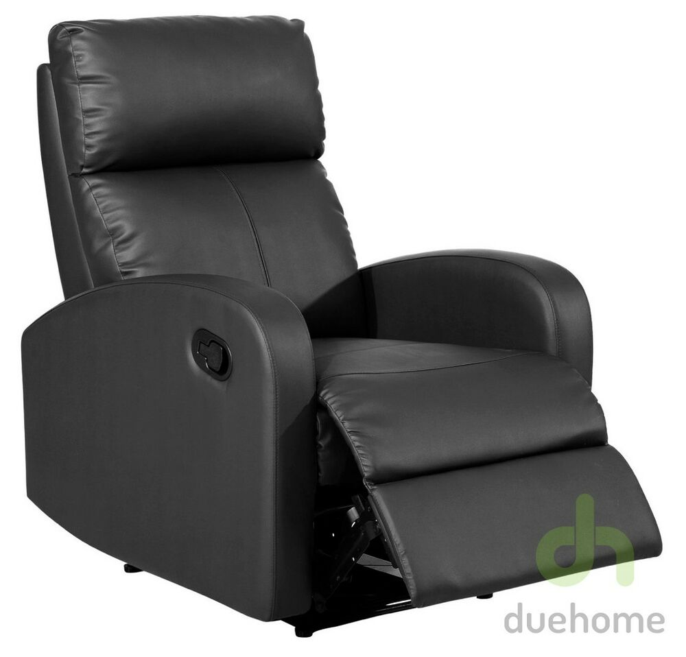 Sillon relax reclinable negro ebay for Sillon reclinable