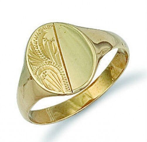Grams Ct Gold Oval Signet Ring