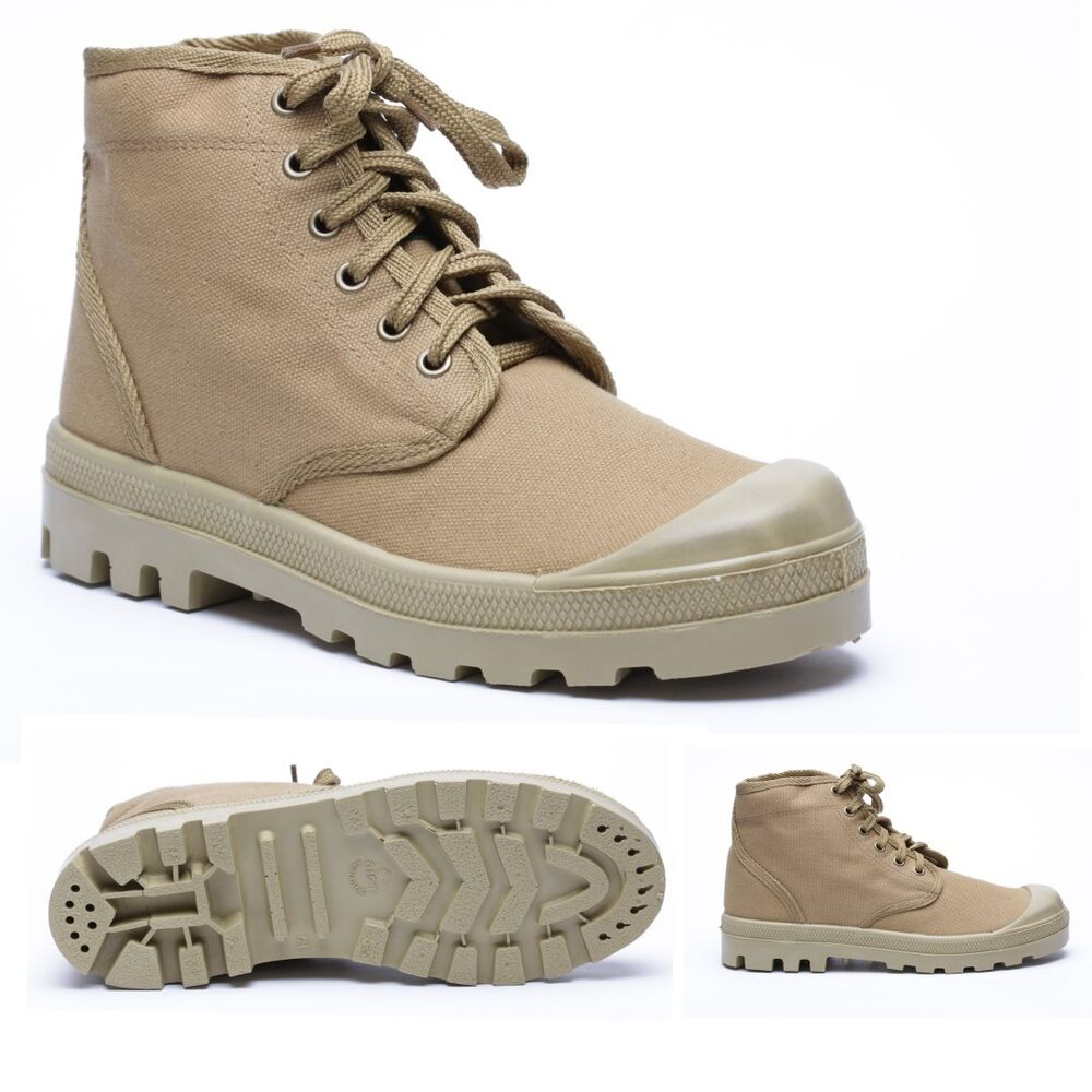 The lace up boots are elegant combination of brown leather and earthy green canvas. The boots are water resistant and have a great grip traction sole, perfect for your outdoor activities and hitting the trails.