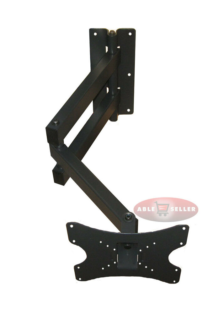 long arm articulating corner tilt arm swivel lcd led tv wall mount 32 36 37 40 ebay. Black Bedroom Furniture Sets. Home Design Ideas