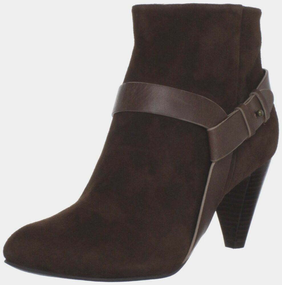 Calico brown suede heel zip boots womens 11 free expedited mail ebay